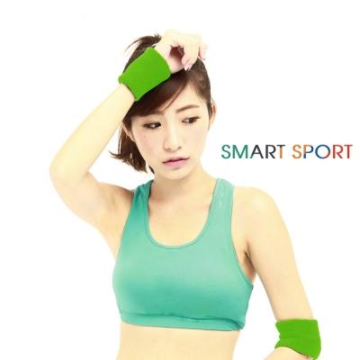 [SMART SPORT] 台灣製造100%純棉運動腕帶-簡約素色款四入(草地綠)-快速