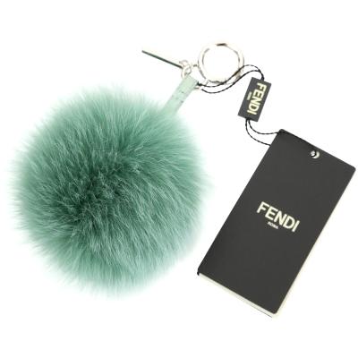 FENDI POMPOM BAG CHARM 狐狸毛球吊飾(綠色)
