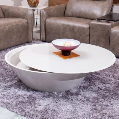 Hilker-安格拉鏡面圓桌茶几-100x100x32cm