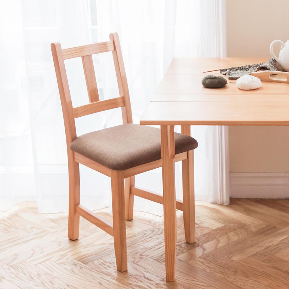 CiS自然行實木家具- 南法實木書椅(溫暖柚木色)深咖啡椅墊