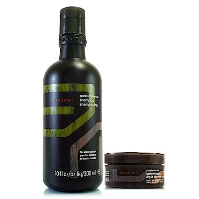 AVEDA 純型洗髮精300ml+純型造型泥75ml