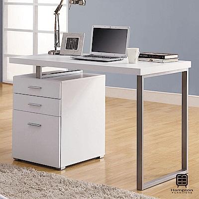 漢妮Hampton尼爾系列摩登電腦書桌(白色)-120x60x76cm