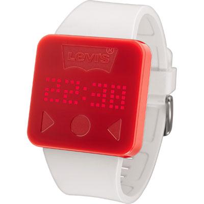 Levis-無敵液晶觸控式時尚腕錶-白/40mm