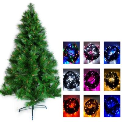台製15尺(450cm)特級松針葉聖誕樹(不含飾品)+100燈LED燈9串