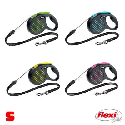 【飛萊希】 flexi 彩點系列 伸縮牽繩 索狀 S號