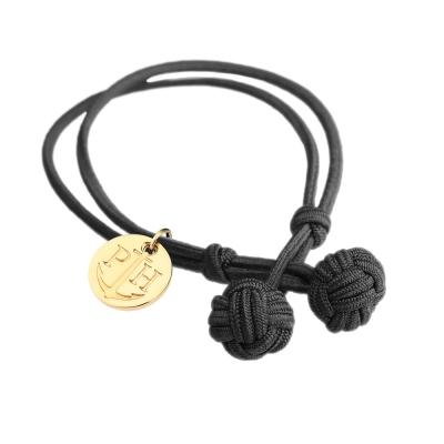 PAUL HEWITT 德國出品 Knot 黑色繩結手環