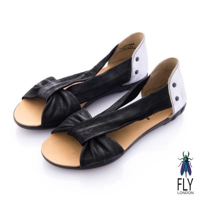 Fly London(女) 繆思女神 V字綁帶交叉涼鞋 - 女神黑 @ Y!購物