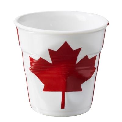 法國 REVOL FRO 加拿大國旗陶瓷皺折杯 80cc