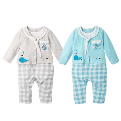baby童衣海軍領水手服假2件薄長袖連身衣61130