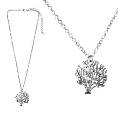 摩達客 森林小樹銀色項鍊