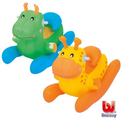 《凡太奇》Bestway 動物造型充氣搖搖椅-恐龍/長頸鹿(隨機出貨)
