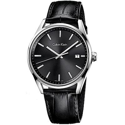 Calvin Klein 都會型男風格石英腕錶(K4M211C3)-黑色/43mm