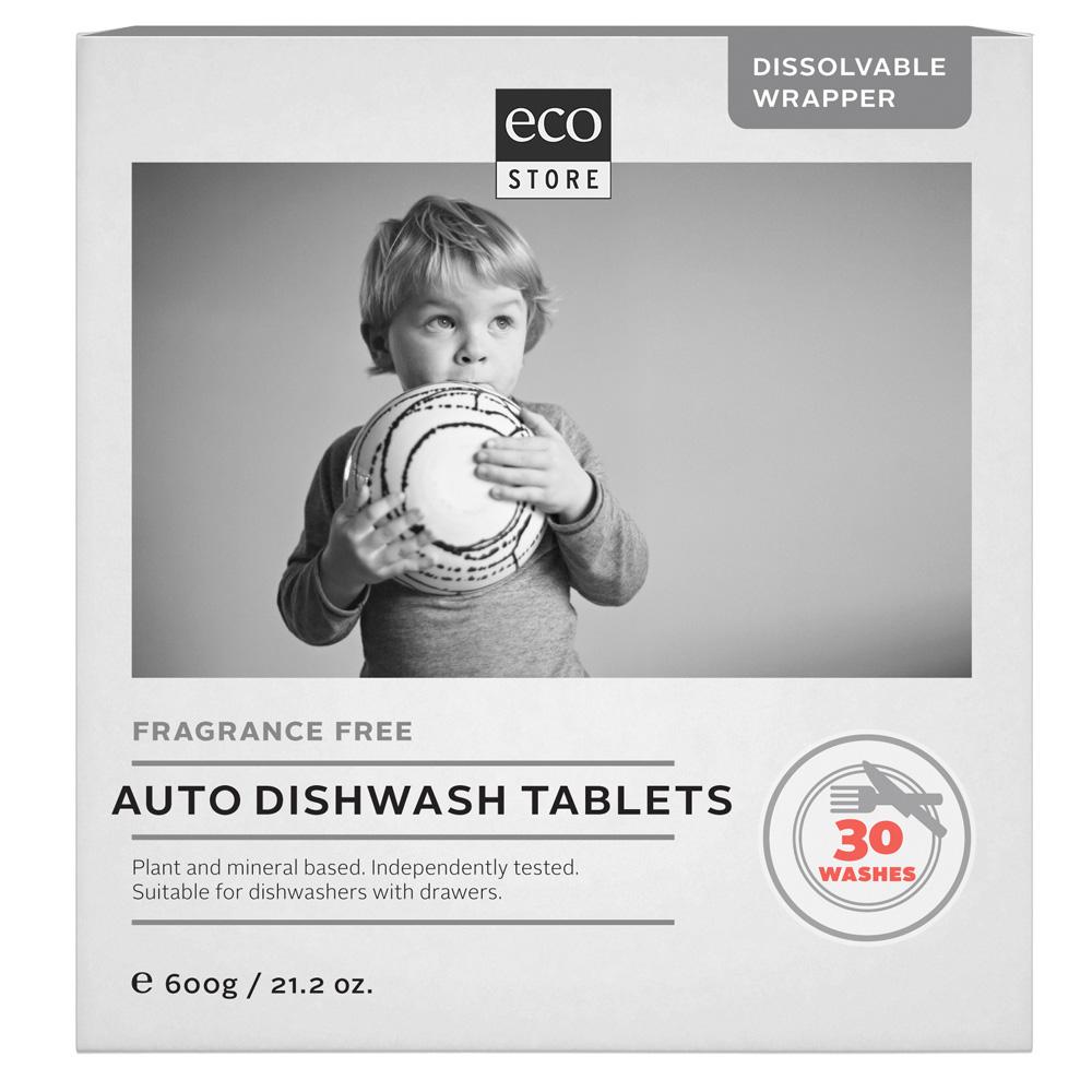 紐西蘭ecostore 全效合一洗碗錠-純淨無香(30錠)
