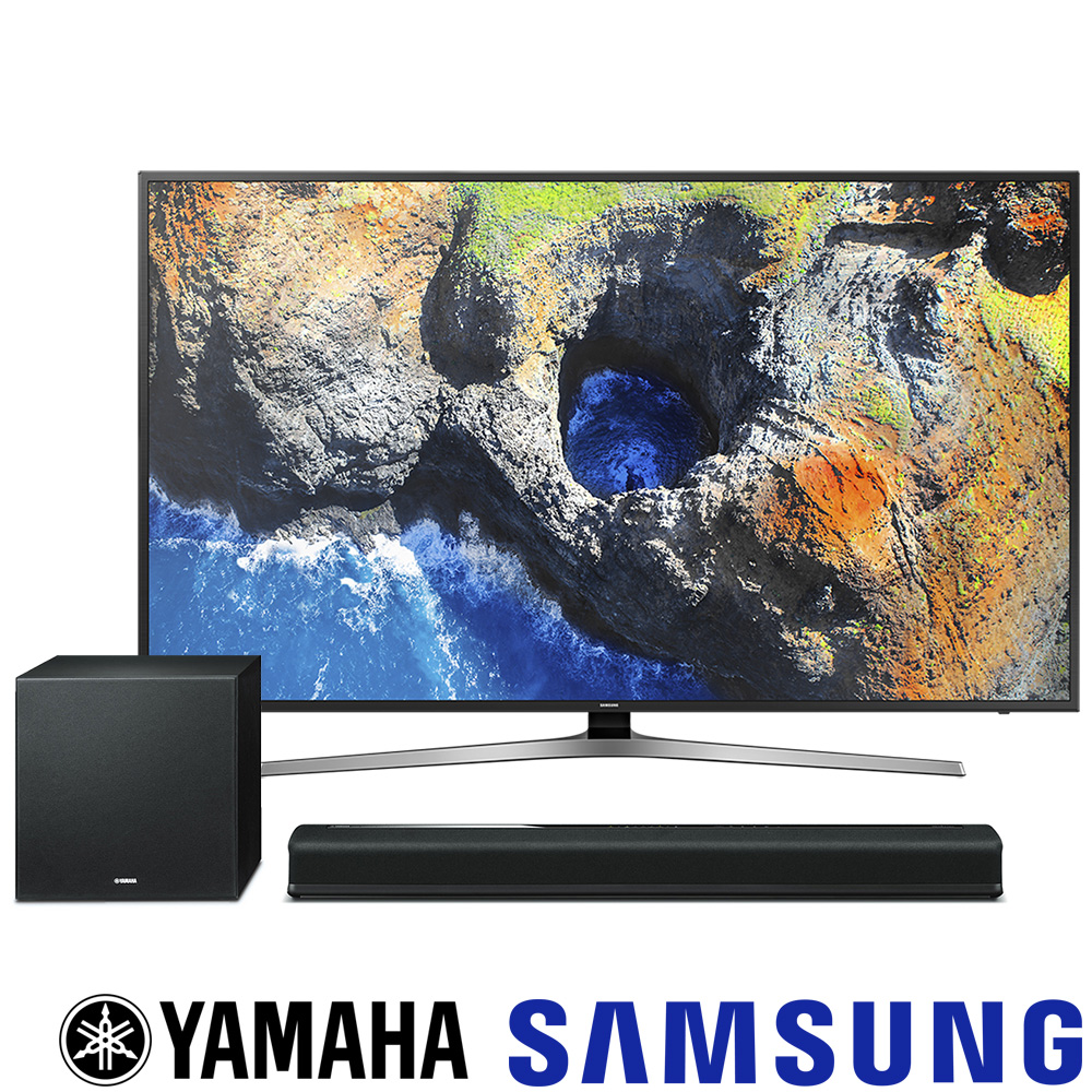 SAMSUNG三星 55吋 4K電視 55MU6100+YAMAHA YAS-706聲霸
