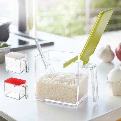 YAMAZAKI AQUA調味料盒(L)-白/綠/紅