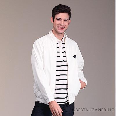 ROBERTA諾貝達 進口素材 台灣製 內刷毛個性夾克外套 白色