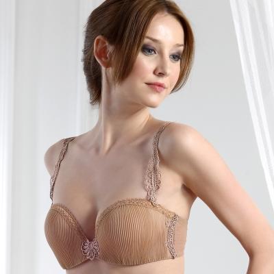 PANS BRA 女爵系列1/2罩B-D平口內衣(彩膚色)