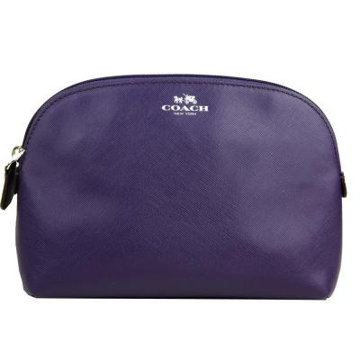 COACH 燙金LOGO防刮化妝包(紫)