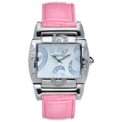 GOTO 浪漫甜心愛鑲鑽手錶-白x粉皮/39mm