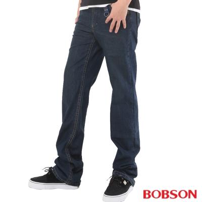 【BOBSON】男款輕量中直筒牛仔褲(藍53)