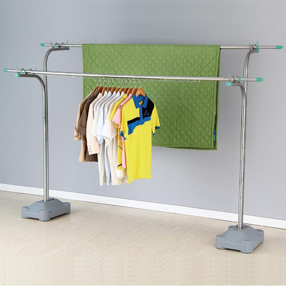 【 Homemaker】優質不鏽鋼重型超大容量曬衣架