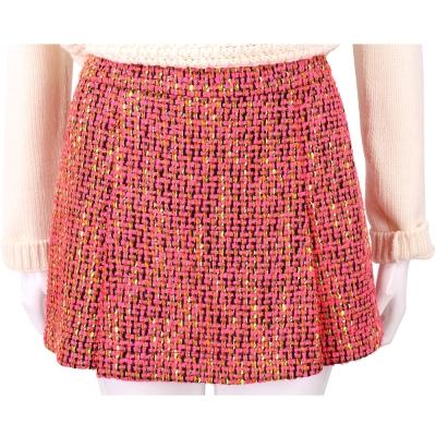 BOUTIQUE MOSCHINO 粉橘混色毛呢短褲