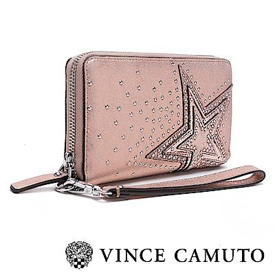 Vince Camuto 圓鉚釘漸層星星長夾-粉色