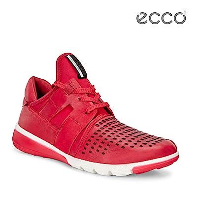 ECCO INTRINSIC 2 3D針織運動時尚休閒鞋-紅