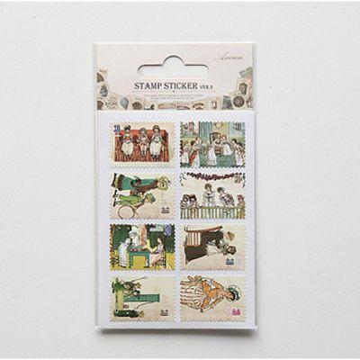 【Funzakka】Ancien復古郵票貼V2_05 Little girl