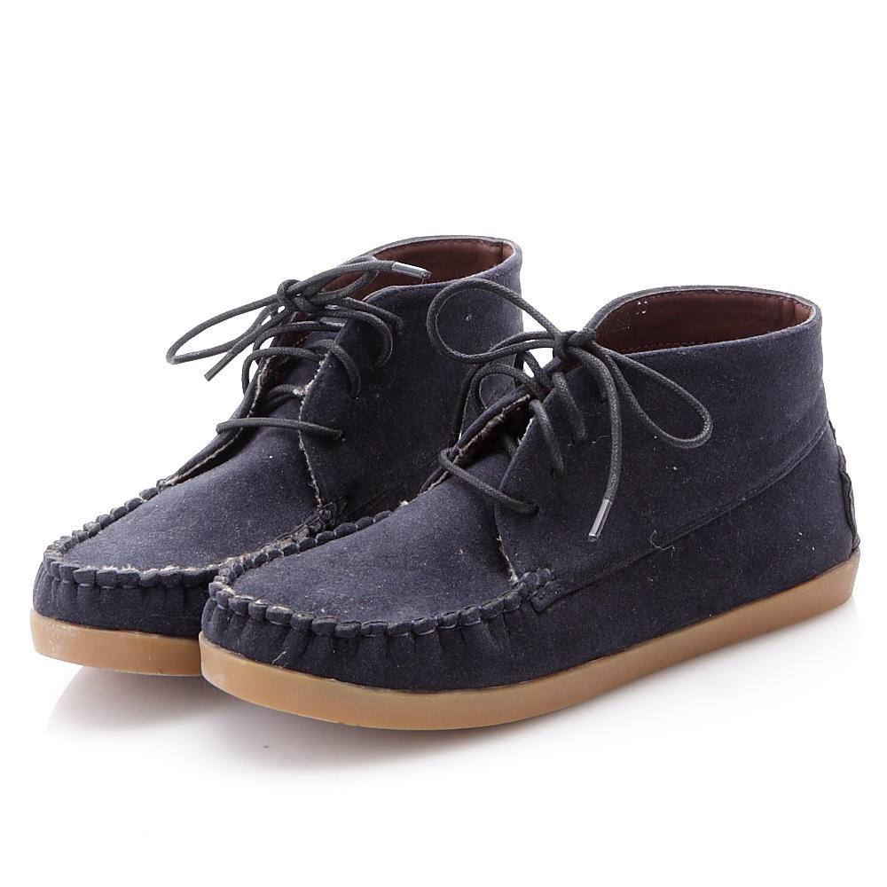 JMS-明星必備單品百搭綁帶休閒鞋-藍色