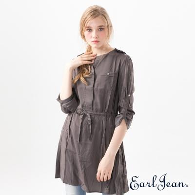 Earl Jean 簡約抽繩洋裝襯衫-女