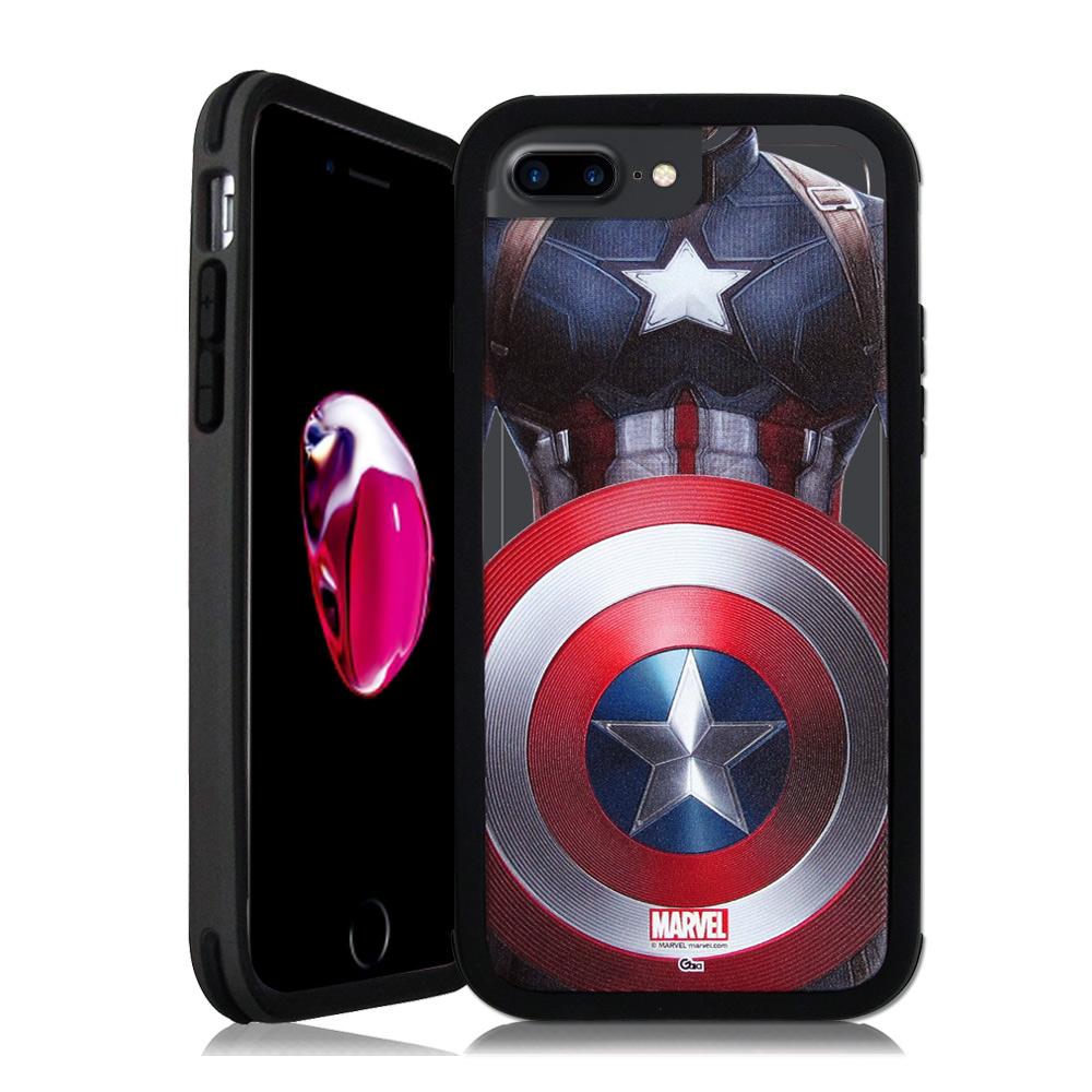 漫威&SOLiDE iPhone 7 Plus 5.5吋 軍規防摔手機殼(隊長盾牌)