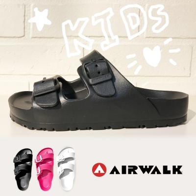 美國AIRWALK- 台灣製造輕盈休閒舒適AB拖鞋(童)黑色