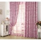 布安於室-思琪爾遮光單層窗簾-粉色-寬140x高220cm