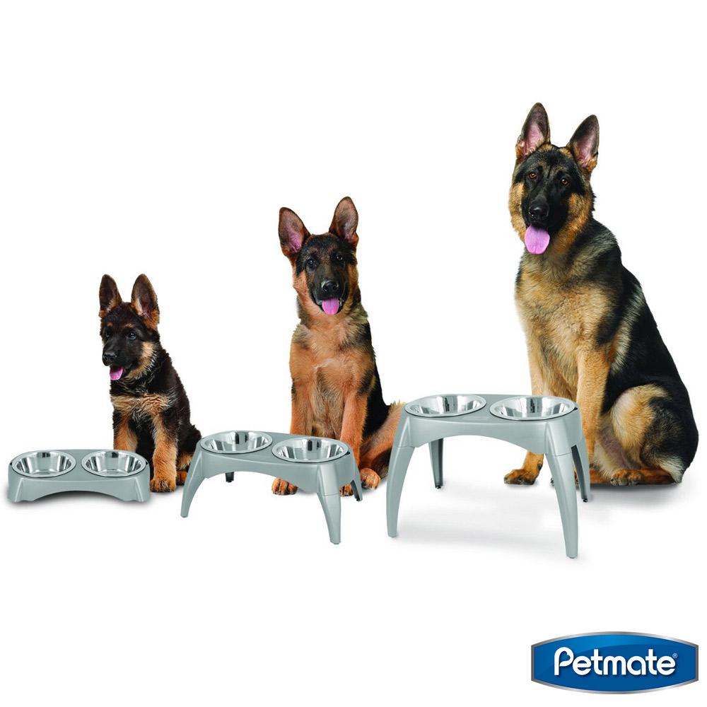 美國Petmate 三段式調整式高腳雙碗