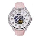 Tendence 天勢錶-47鏤空機械 限量款系列-粉色簍空玫瑰/47mm
