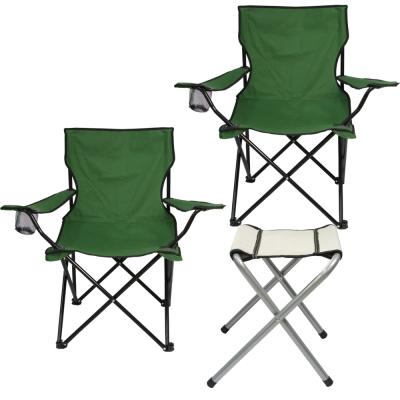 綠野仙蹤輕量導演椅x2+摺疊四角凳x1