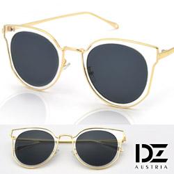 DZ 魔幻金邊透框 抗UV太陽眼鏡 墨鏡(透框灰片)