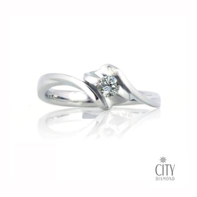 City Diamond『銀彩流光』10分鑽戒
