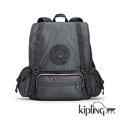 Kipling 後背包 深藍素面-大