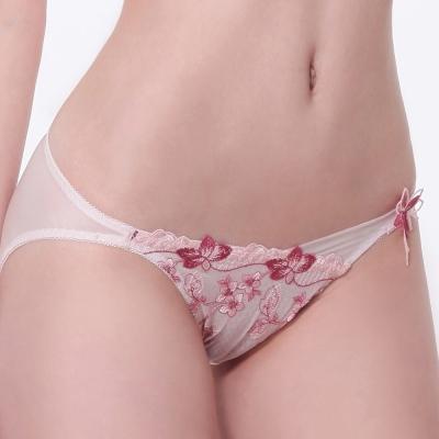 LADY 春之聲系列 低腰三角內褲(花香粉)
