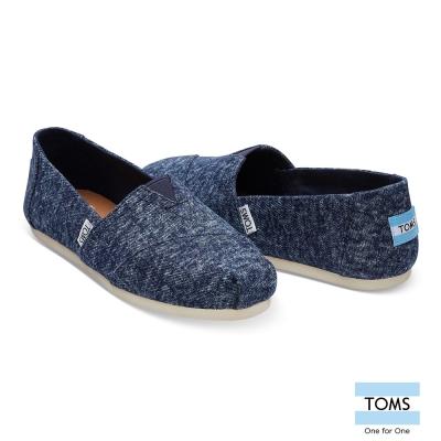 TOMS 經典水洗牛仔帆布休閒鞋-女款