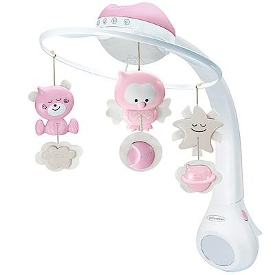 Infantino  三合一星空投影安撫音樂吊鈴-粉色