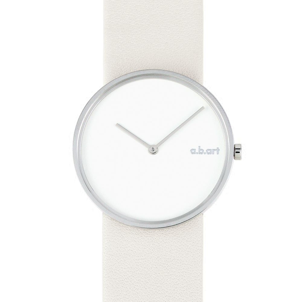a.b.art D系列 摩登極簡都會時尚腕錶-白/34mm