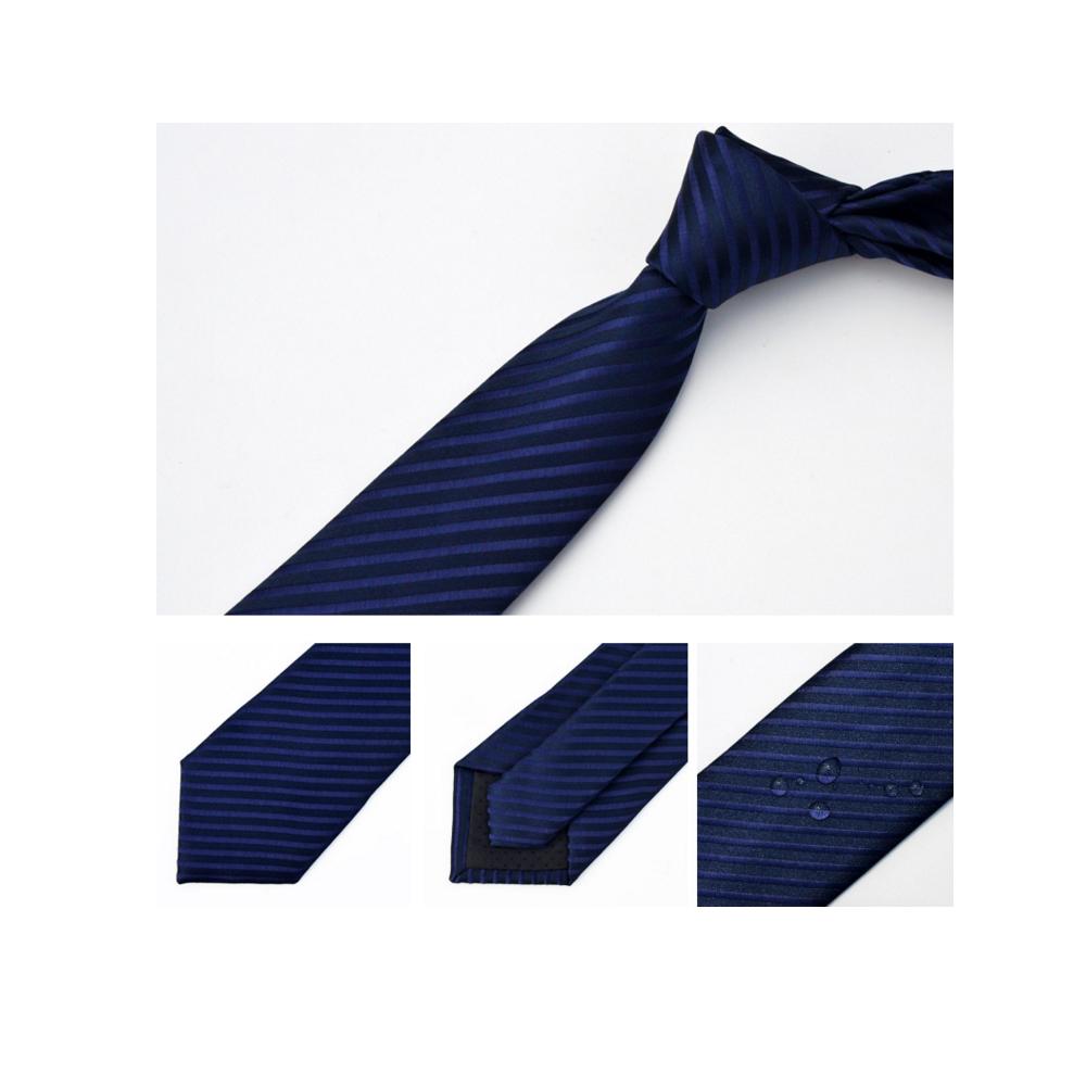 拉福  領帶防水領帶7cm領帶手打領帶(藍斜)