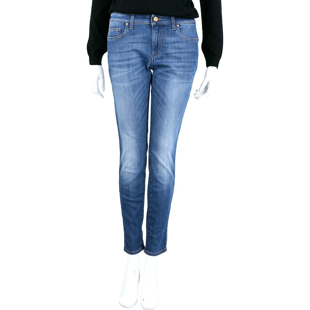 VERSACE 藍色刷白棉質牛仔褲
