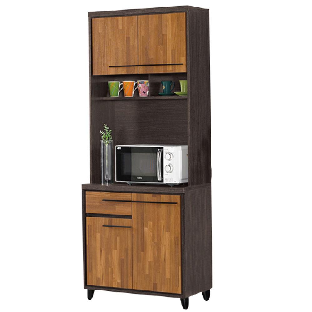 品家居 洛爾2.6尺收納餐櫃組合-79x40x200cm-免組