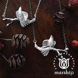 Marship 日本銀飾品牌 鸚鵡項鍊 伸展右腳款 925純銀 亮銀款