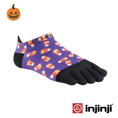 【Injinji】RUN女性輕量吸排五趾隱形襪-三角糖