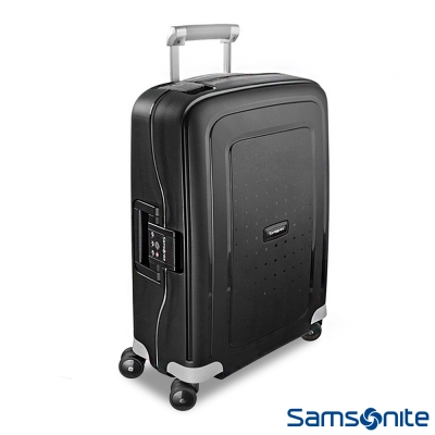 Samsonite新秀麗-20吋S-39-CURE四輪PP硬殼TSA扣鎖行李箱-黑